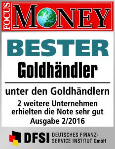 Bester Goldhändler Focus Money